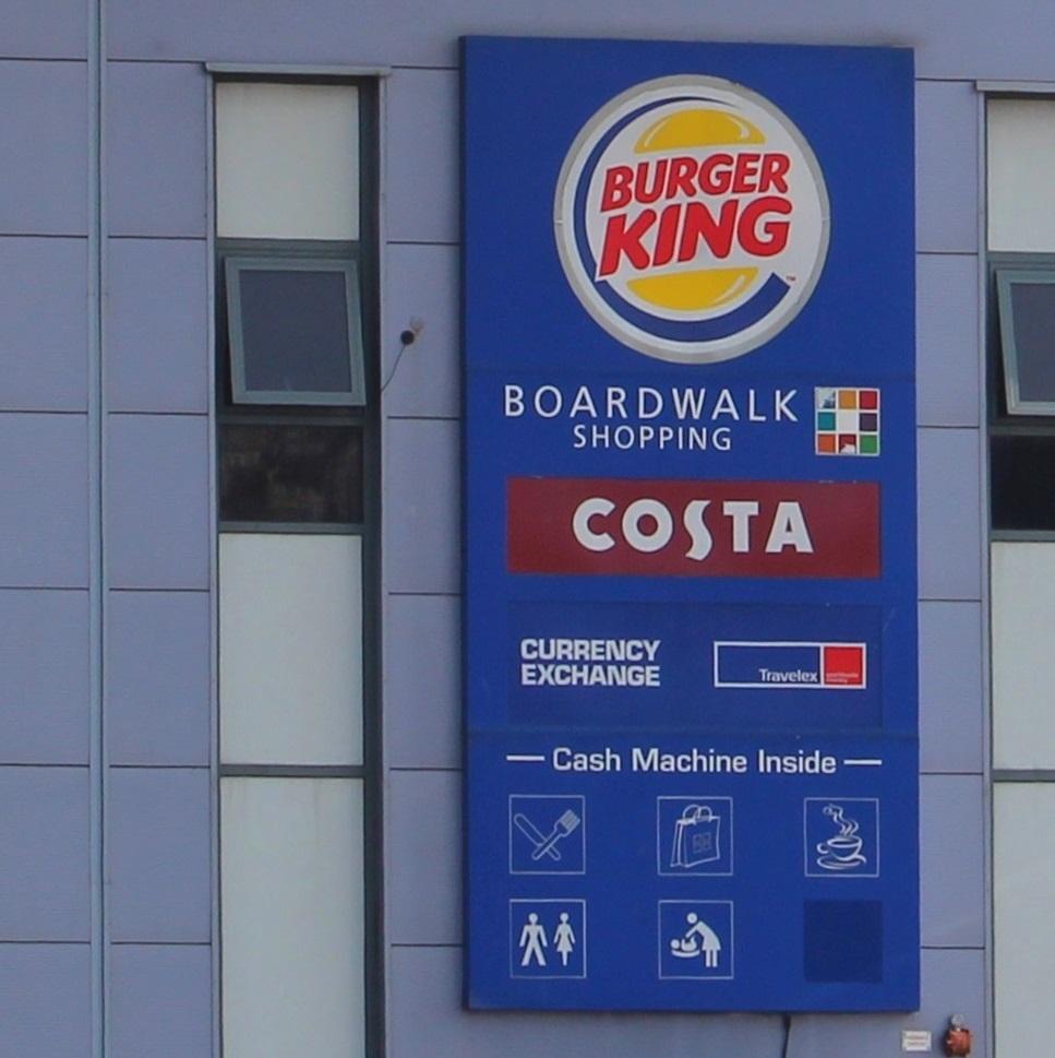 Gamma bij de Burger King