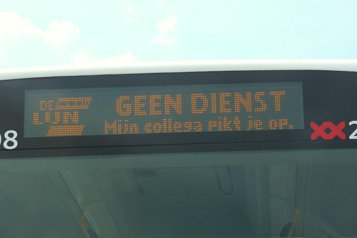 De buslijn naar Geen Dienst
