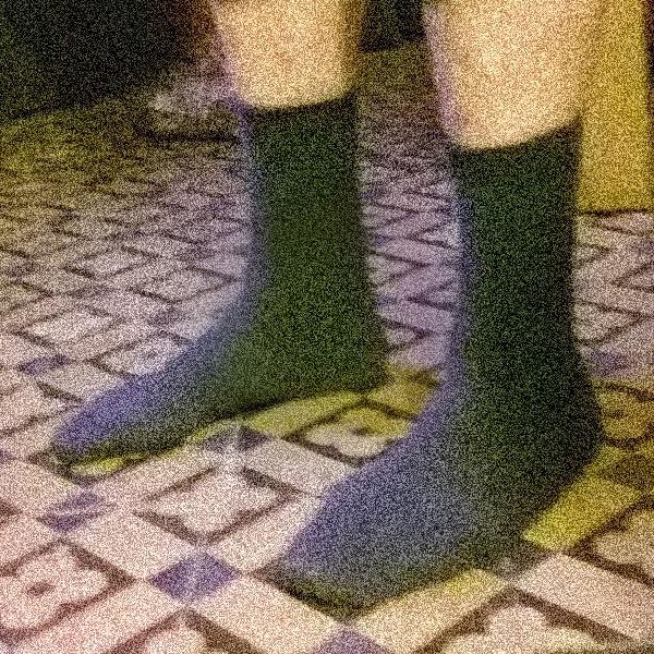De sokken van een man